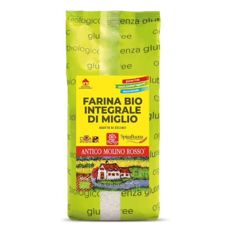 farina integrale di miglio  biologica senza glutine