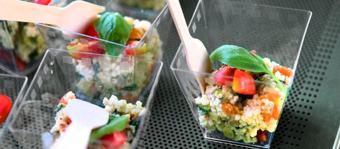 aperitivo con insalata di miglio senza glutine